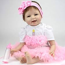 ZIYIUI 22inch <b>55cm</b> Soft Silicone Reborn <b>Baby Dolls Girl</b> That Look ...