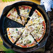 Image result for dutch oven pizza