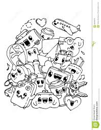 Small Picture Travel Doodles Coloring Pages For Kids Stock Vector Image