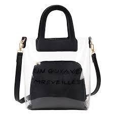 Buy <b>2Pcs Women's</b> Handbag Set <b>Transparent Jelly</b> Letter Bags Set ...