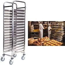 Yonntech <b>16</b> Tiers <b>Kitchen</b> Rolling <b>Cart</b> Shelf <b>Trolley</b> Utility <b>Trolley</b> ...