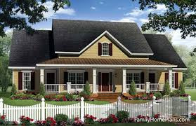 Fantastic House Plans Online   House Building Plans   House Design    Country cottage home   front porch by Family Home Plans