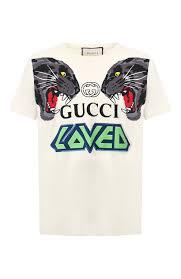 Мужская <b>футболка Gucci</b> Tiger Print Logo T-shirt — купить в ...