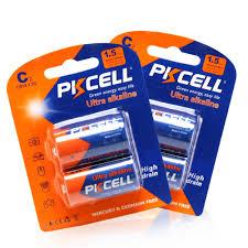 <b>4pcs</b> PKCELL 1.5V C LR14 Ultra Alkaline Batteries 114A U11 ...