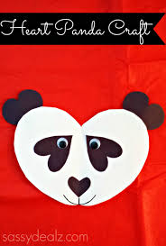 panda bear heart craft for kids diy art for kids and crafts for learn how to make a panda bear out of paper hearts all you need is