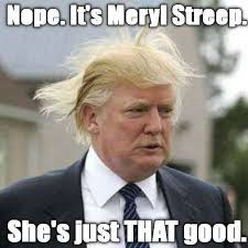 Trump on windy day Memes via Relatably.com