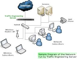 software only solution   traffic engineering serverdiagram of typical tes logical location in the network