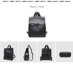 SC Women Italian Leather <b>Backpack Vintage Retro Style</b> Flap ...