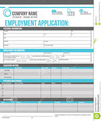 employee application template stock vector image 56453474 employee application template