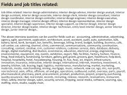 21 fields and job titles related job titles related interior design assistant jobs