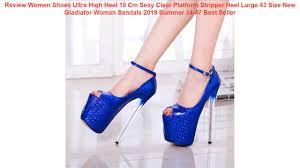 Review <b>Women Shoes</b> Ultra High Heel 19 Cm Sexy Clear Platform ...