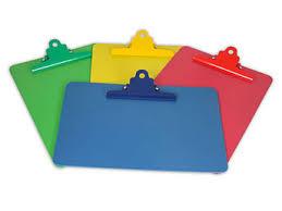 detectable colored boards a5 clipboard clip boards