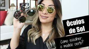 <b>Óculos de Sol</b> // Como escolher o modelo certo? - YouTube