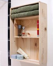 making bathroom cabinets: diy bathroom storage cabinet made of two wine crates
