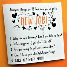 funny now you ve got a new job card by the new witty funny now you ve got a new job card