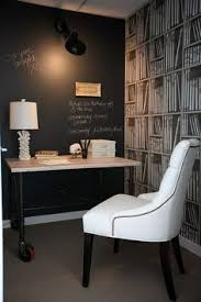 beautiful home office with chalkboard wall and fornasetti wallpaper design the cross interior design beautiful home office wall
