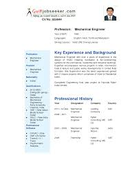 doc be mechanical engineering resume format template resume for mechanical engineer 2017
