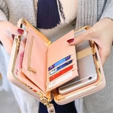 Generic Wallet Female <b>Women's</b> Wallet Snap Coin Purse Phone ...