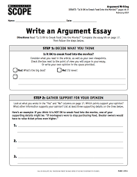 using the debate essay kit to practice argument writing scope a pdf of this lesson plan here