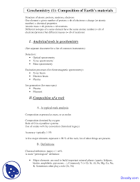 analytical tools geochemistry i lecture notes the document