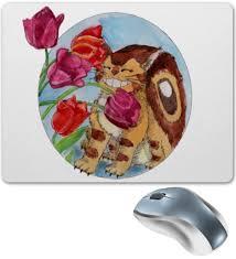 "Коврик для мышки ""Котобус нюхает <b>тюльпаны</b>"" #2418240 от ..."