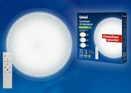 Накладной потолочный <b>светильник</b> c пультом <b>Uniel ULI</b>-<b>D214</b> ...