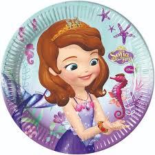 <b>Тарелка</b> бумажная одноразовая - Disney Sofia <b>Pearl</b> Of The <b>Sea</b>