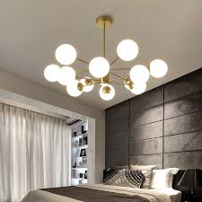 Glass magic bean chandelier <b>Nordic creative living room</b> post ...