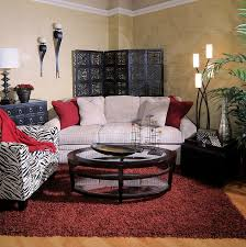 rugs living room nice: living room beautiful country pattern sofa with blue fantastic furniture black white zebra fabric arms chair red shag further