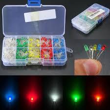 <b>100PCS</b> 5MM LED diode <b>Light</b> Assorted Kit DIY LEDs Set White ...