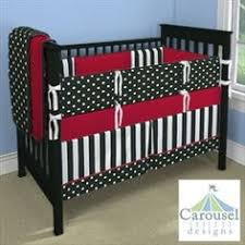 my carousel designs custom baby bedding or would red be better for either boy or baby mickey crib set design