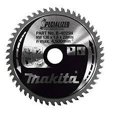 Makita B-40294 TCT Sawblade <b>136X20X50T</b>, Multi-Colour: Amazon ...
