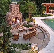 outdoor fireplace paver patio: patio design rectangular patio pavers with circular flagstone outdoor fireplace