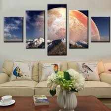 Pictures Painting <b>Wall Art Modular</b> Poster Home Decor 5 Panel Big ...