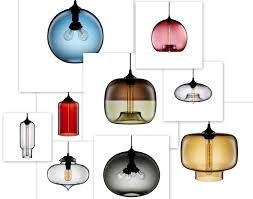 design modern light blown artisan blown glass lamps