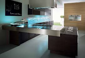 ultra modern kitchen cabinets table ultra modern look here includes metal countertop creating a quotbridge