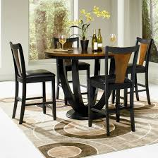 cherry counter height piece: poundex cherry black wood piece round dining set f s