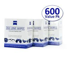 200 <b>ZEISS PRE</b>-<b>MOISTENED Lens</b> Cleaning Cloths Wipes Optical ...
