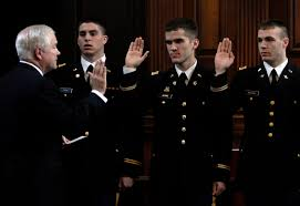 u s department of defense photo essay secretary of defense robert m gates administers the oath of office to rotc cadets at
