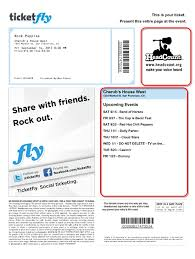 ticketfly create a print at home ad template on this example the two customizable ad spaces are highlighted