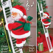 Luxtrada <b>Santa</b> Claus <b>Climbing Ladder</b> & Singing <b>Electric</b> Toy Funny ...