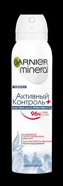Аэрозоль <b>Дезодорант</b>-<b>Антиперспирант GARNIER Mineral</b> ...