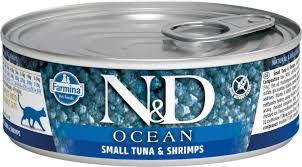 Влажный корм <b>Farmina N&D</b> Cat Ocean Tuna & shrimp <b>консервы</b> ...