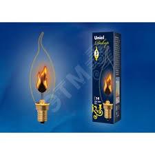 LED <b>Лампа</b> декоративная с типом свечения эффект пламени ...