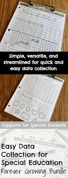 ideas about special education math special easy data collection for special education forever growing bundle