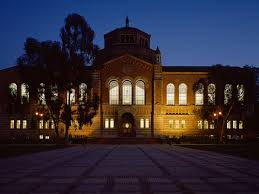 ucla application essay facade of powell library at night ucla edu