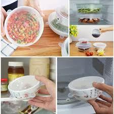 Food Grade <b>Silicone Freshness Lid</b> 6-Piece Universal Bowl <b>Lid</b> ...