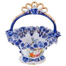 <b>Ваза Lefard</b>, 101-1073, белый, синий, 12 х 12 х 11 см — купить в ...