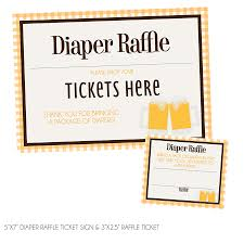 baby is brewing diaper raffle tickets sign kateogroup
