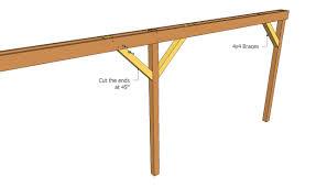 Attached carport plans   MyOutdoorPlans   Free Woodworking Plans    Installing braces